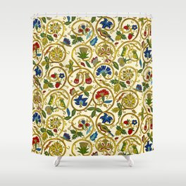 Embroidered Elizabethan / Jacobean Jacket Shower Curtain