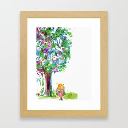 Princess and the tree Framed Art Print