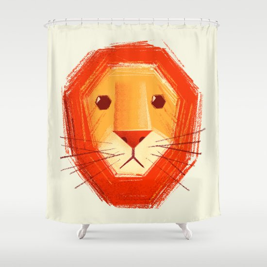 Sad lion Shower Curtain