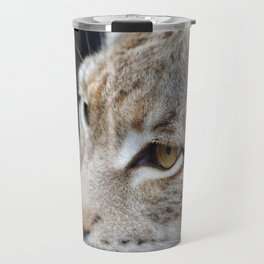 Young lynx close-up portrait Travel Mug