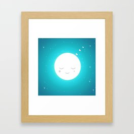 Sweet moon Framed Art Print