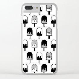 Ice Cream Pattern #2 Clear iPhone Case