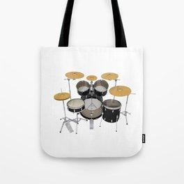 Black Drum Kit Tote Bag
