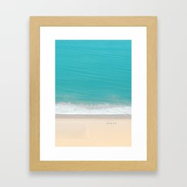 Aerial beach, Santa Monica III Framed Art Print