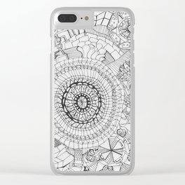 Adult Coloringbook Template Mandalas 3 Clear iPhone Case