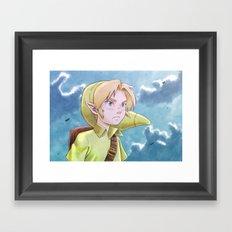 The legend of Zelda - Link kid Framed Art Print