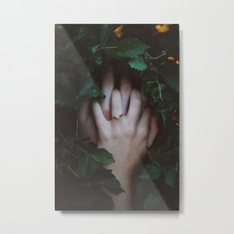 Hands Nature Metal Print