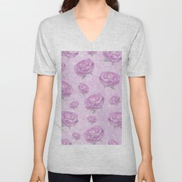 Watercolour pink peonies Unisex V-Neck