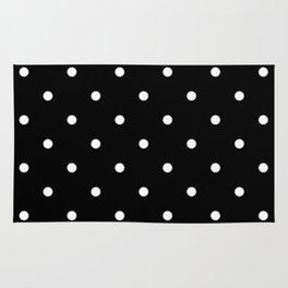 Dots BlackandWhite Rug