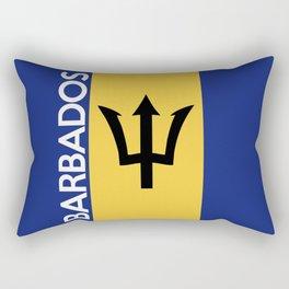 Barbados country flag name text Rectangular Pillow