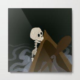Skeleton Woman Metal Print