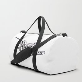 Humming bird black and white Duffle Bag