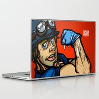 steve rogers Laptop & iPad Skins featuring Steve Rogers, The Fist Avenger by Randy Meeks