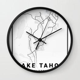 Lake Tahoe Light City Map Wall Clock