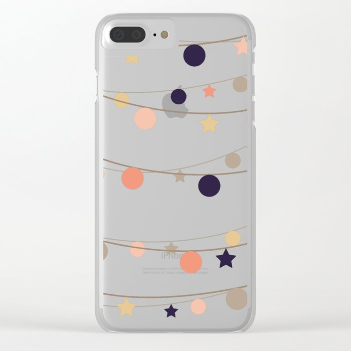 Christmas Garlands Clear iPhone Case