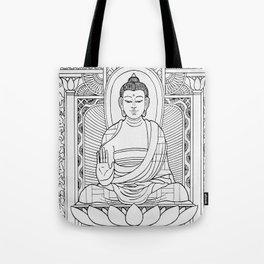 Buddha Black & White Tote Bag