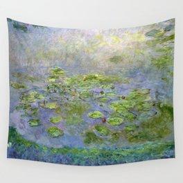 1914-Claude Monet-Nymphéas-181 x 201 Wall Tapestry