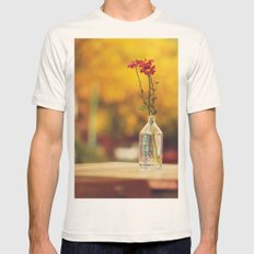 Autumn colors Mens Fitted Tee Natural SMALL
