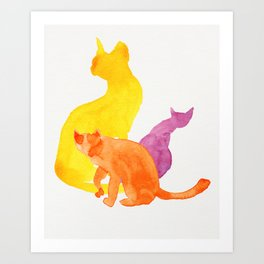 Happy Cats Art Print