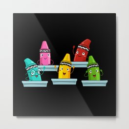 Children's Pens Gift Idea Design Motif Metal Print
