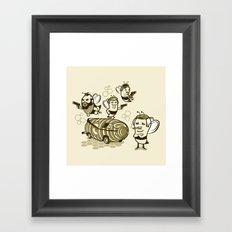 Bee Team Framed Art Print
