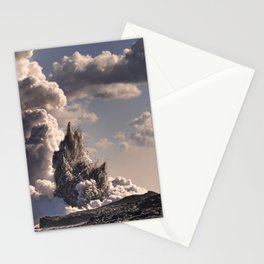 Kilauea Volcano at Kalapana 3b Stationery Cards
