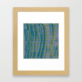 wave lines Framed Art Print