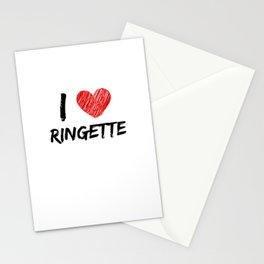 I Love Ringette Stationery Cards