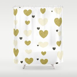 Floating Hearts! Shower Curtain