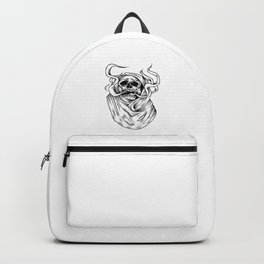 smoking skull Backpack
