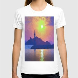 Bodrum Lighthouse Impressionism T-shirt