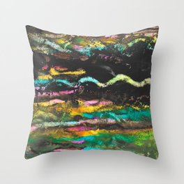 A River Runs Through Abstract Painting Throw Pillow