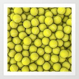 Tennis balls Art Print