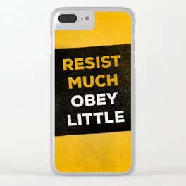Resist much obey little Clear iPhone Case