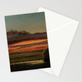 Sunset Over The Marshes 1904 By Martin Johnson Heade | Reproduction Stationery Cards