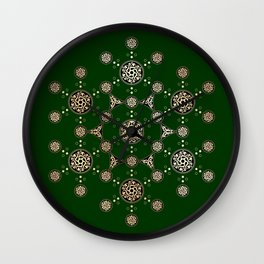 molecule of life. sacred geometry. alien crop circle Wall Clock