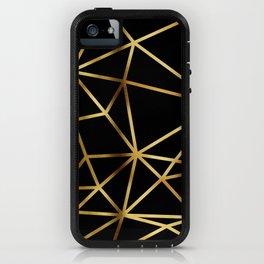 In Gold Triangles. Art Deco. iPhone Case