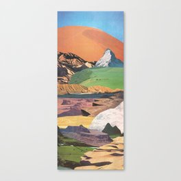 Peaks And Plateaus Canvas Print