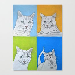All the Faces of Moo-Moo Canvas Print