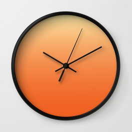 Orange Ombre Wall Clock