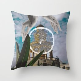 Citrus Village Throw Pillow