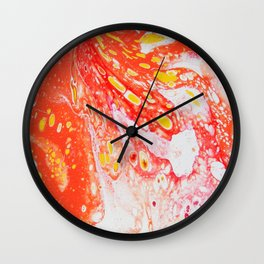 Orange Candy Coating Wall Clock