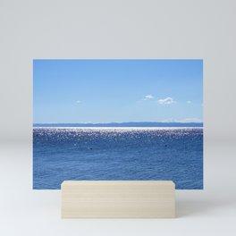 Diamonds on the sea Mini Art Print