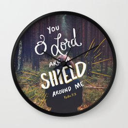 Psalm 3:3a Wall Clock