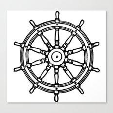 Ship's Helm - Captain's Wheel - Rudder Canvas Print