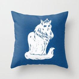 Royal Cat Throw Pillow