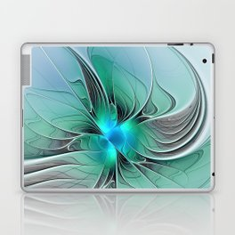 Abstract With Blue 2, Fractal Art Laptop & iPad Skin