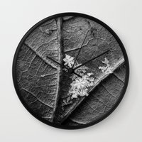 discount Wall Clocks featuring the gathering by Bonnie Jakobsen-Martin