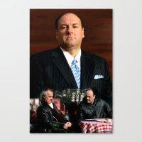sopranos Canvas Prints featuring The Sopranos - James Gandolfini Tribute 2 by Gabriel T Toro