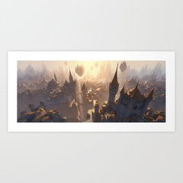 Ravnica Plains Art Print